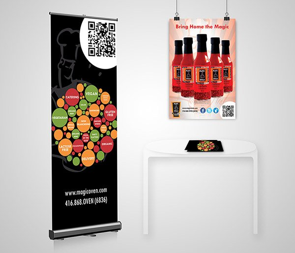 Magic Oven POP Banner Flyer and Poster