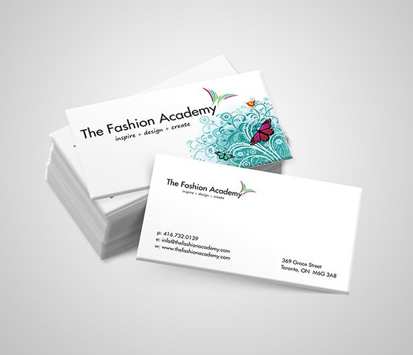 The Fashion Academy Business Cards