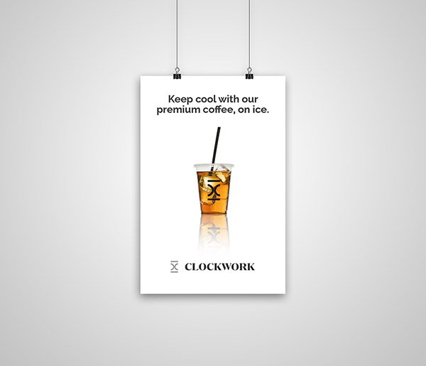 Clockwork - Premium Coffee on Ice Poster