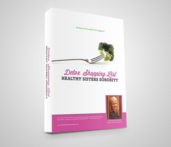 Detox Shopping List Healthy Sisters Sorority Book