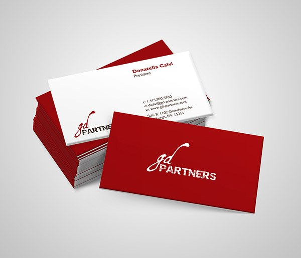 GD Partners Business Cards