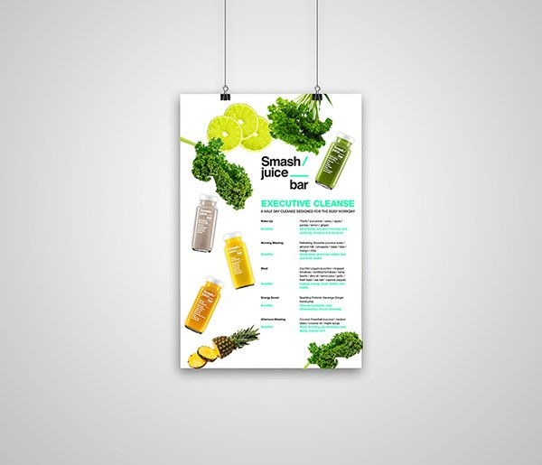 Smash Juice Bar Executive Cleanse Poster